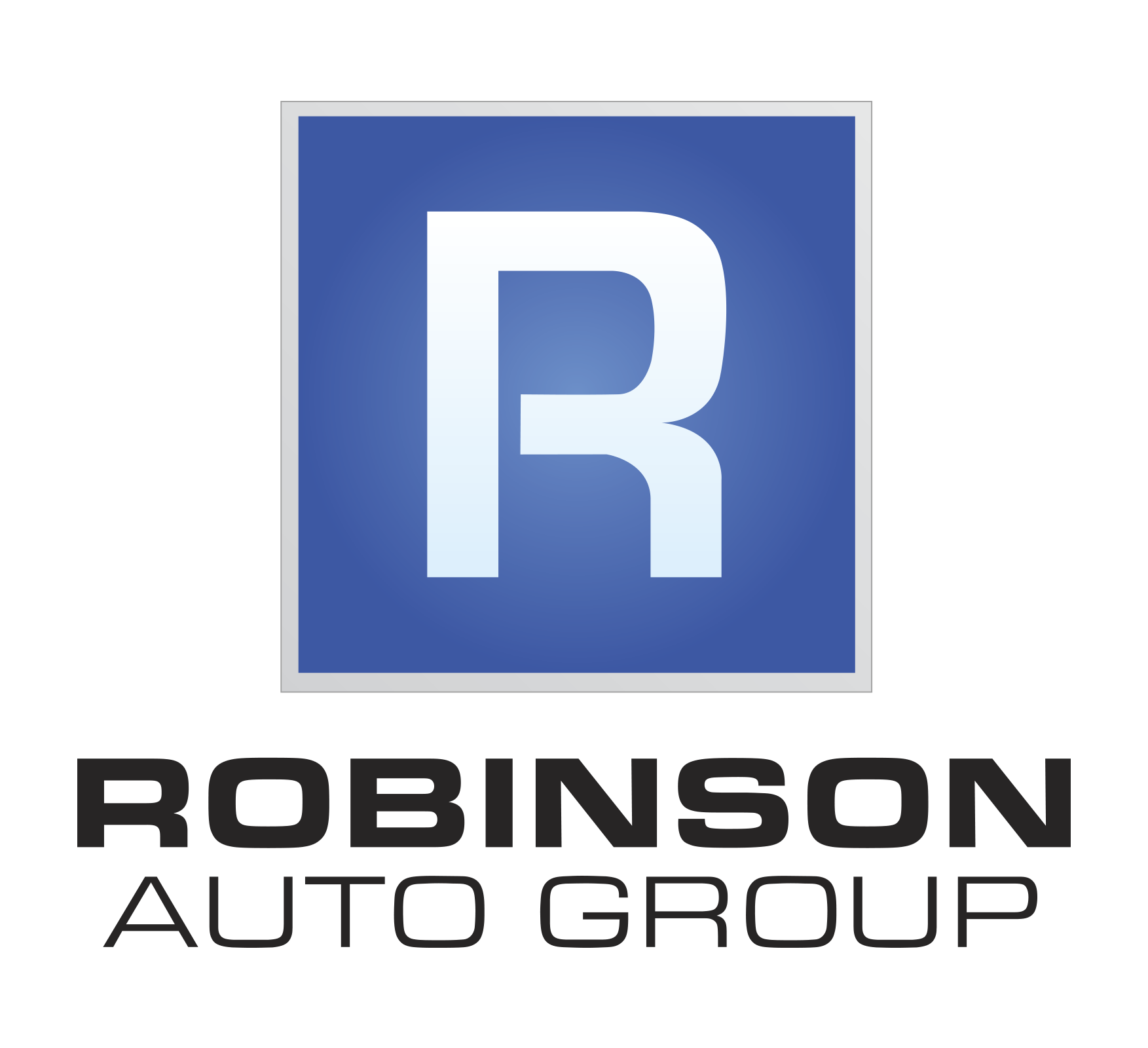 RobinsonAutoGroup Logo Black Stacked